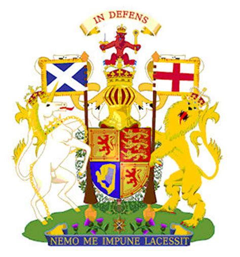 English Tudor Houses by British Royal Family Arms
