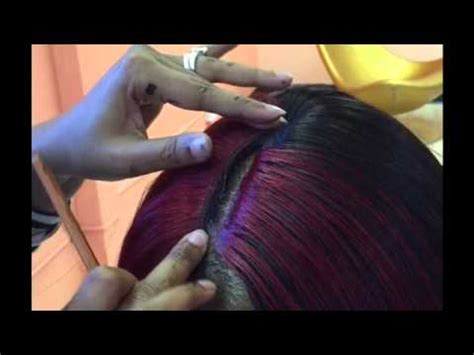 illusion part weave quick weave with 3d part no leave out for high ponytail