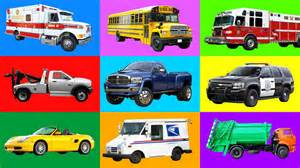 childrens cars learning vehicles names and sounds for cars