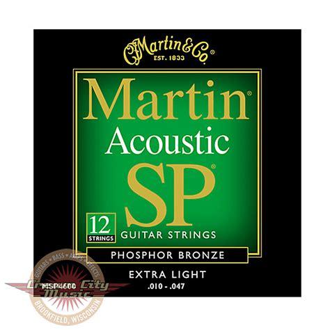 Martin Msp4600 Sp 92 8 Phosphor Bronze Extra Light 12 Martin Sp Light Strings