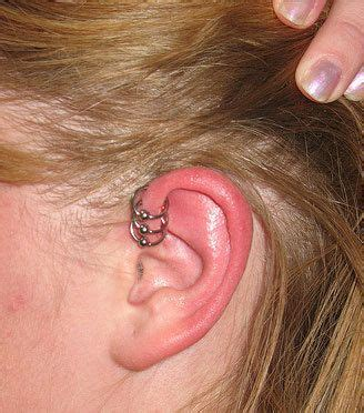 how to care for a helix or forward helix piercing cartilage ear piercing information healing infections