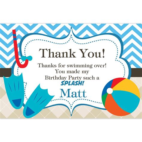 free printable thank you cards birthday party image result for free printable beach ball birthday