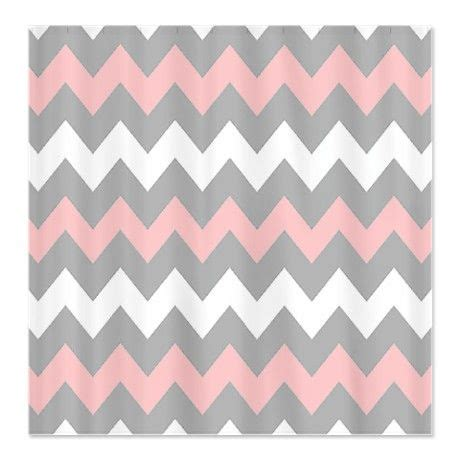 light pink chevron curtains pink and gray chevron stripes shower curtain for the