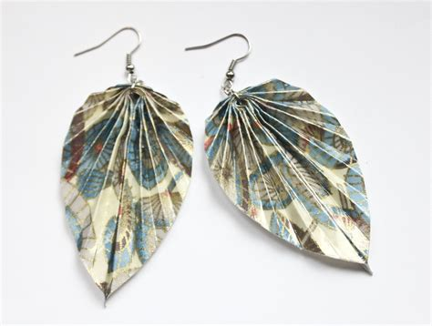 Origami Leaf Earrings - origami leaf earrings 28 images new leaf and butterfly
