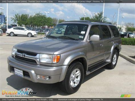 2002 Toyota 4runner Limited 2002 Toyota 4runner Limited Thunder Cloud Metallic Gray