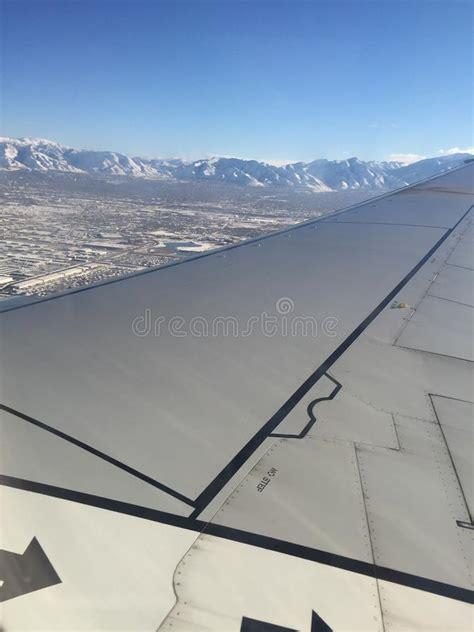 salt lake city aerial view stock images