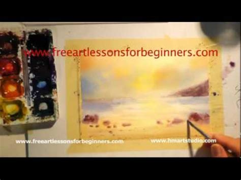 watercolor tutorial for beginners youtube free art lessons for beginners painting with watercolors