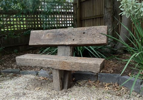 railway sleeper garden bench solid rustic sleeper garden seat made from recycled