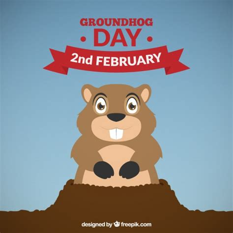 the groundhog day groundhog day background vector free