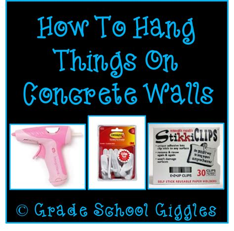how to hang on wall grade school giggles let s talk about concrete walls