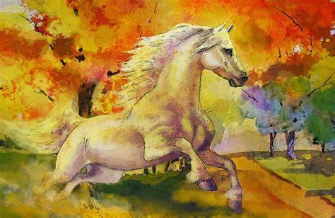 cuadros de paisajes abstractos im 225 genes arte pinturas paisajes abstractos con caballos