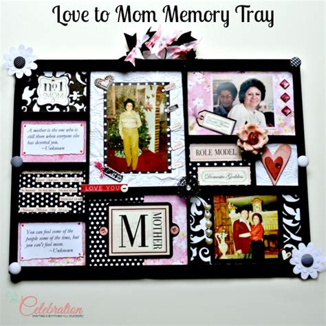 unique gifts for mom love to mom memory tray little miss celebration