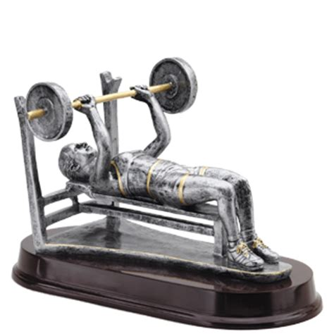 crazy bench press weightlifting bench press trophy 8 quot weightlifting trophies cheap sports trophies