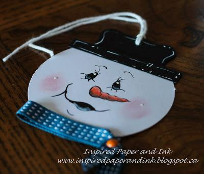 Pen Paper Snowman Paint Marker Efgp 12 Inspired Paper And Ink Painted Snowman Tags