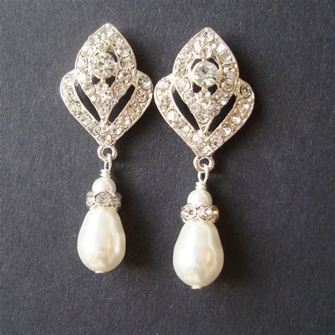 Ohrringe Hochzeit Vintage by Wedding Jewelry Deco Bridal Earrings Pearl Wedding