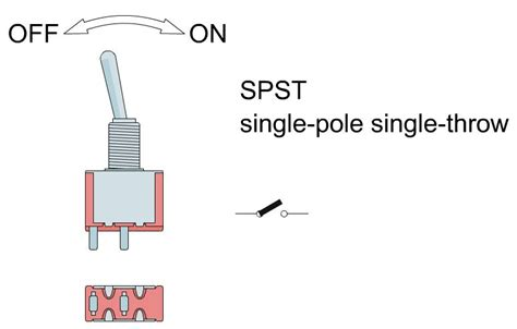 pole single throw toggle switch schematic