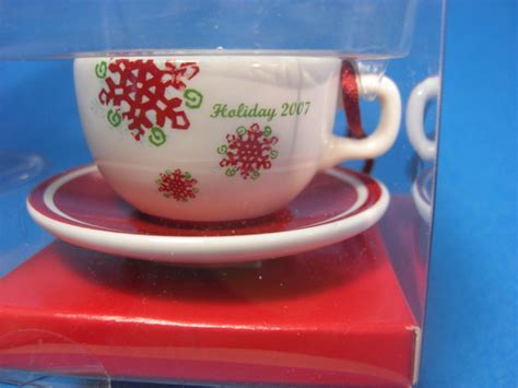 starbucks 2007 cup saucer ornament