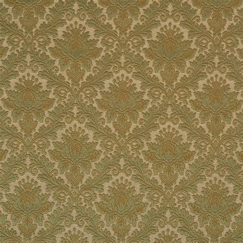 Matelasse Upholstery Fabric by Green Floral Woven Matelasse Upholstery Grade