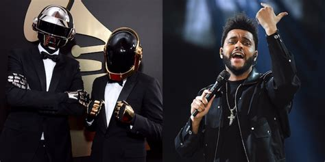 daft punk no mask grammys 2017 daft punk performing with the weeknd pitchfork