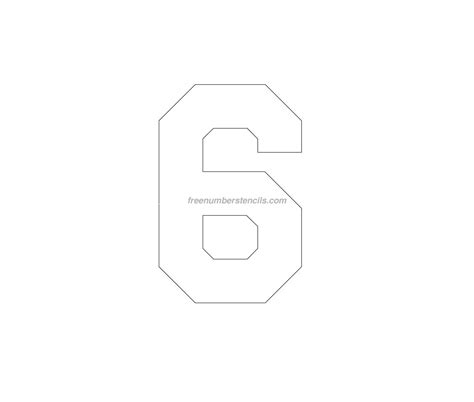 free printable 6 number stencils free jersey printable 6 number stencil
