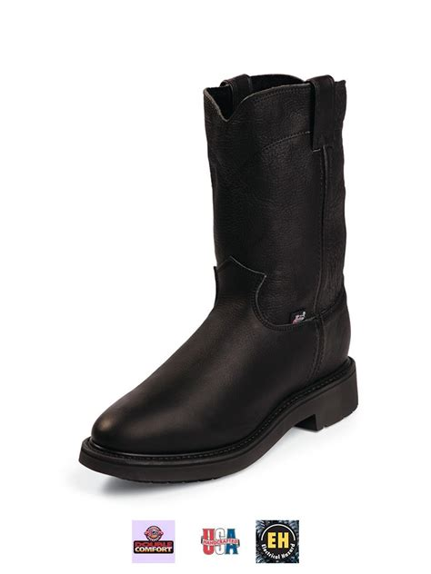 mens boots made in the usa justin mens comfort work boots made in the usa