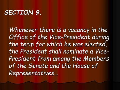 House Of Representatives Term Of Office by Ppt Article Vii Executive Department Powerpoint