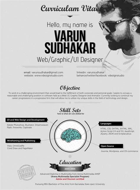 contoh desain resume cv unik  inspirasi