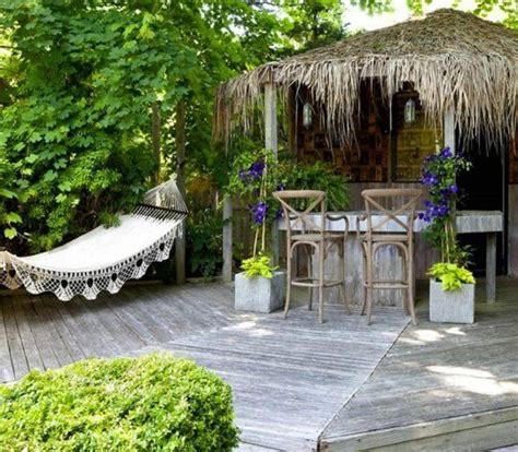 tiki hut backyards and apartment therapy on