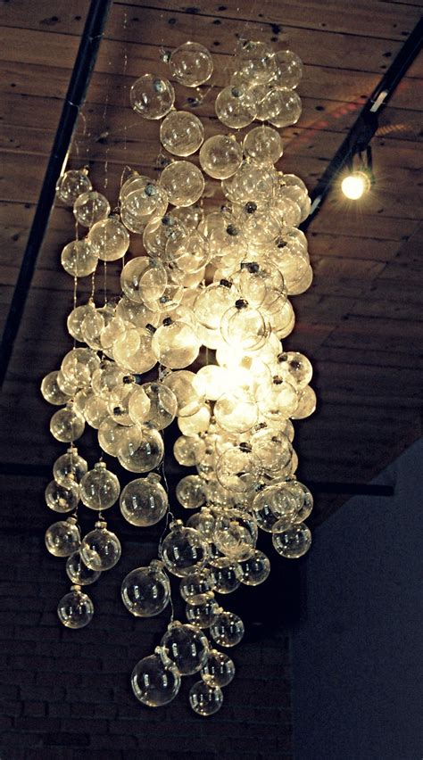 glass bubbles chandelier design ideas twig new years party