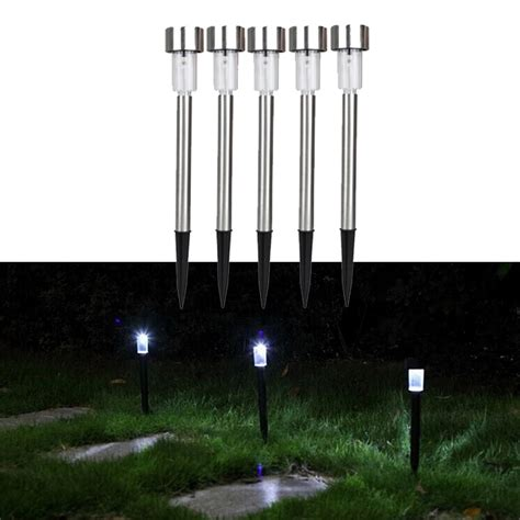 New 5pcs Led Spot Light Garden Path Plastic Small Solar Small Solar Lights