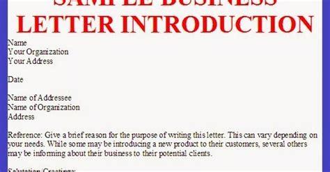 Introduction Of Letter K Sle Business Letter Of Introduction For A Product Sle Business Letter
