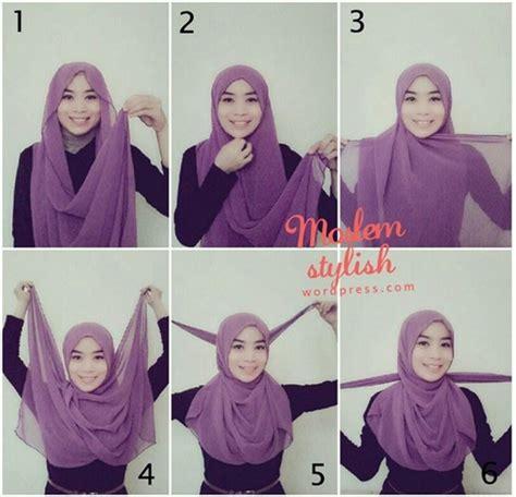 tutorial hijab untuk anak muda simple 35 cara memakai jilbab pashmina simple kreasi terbaru 2017