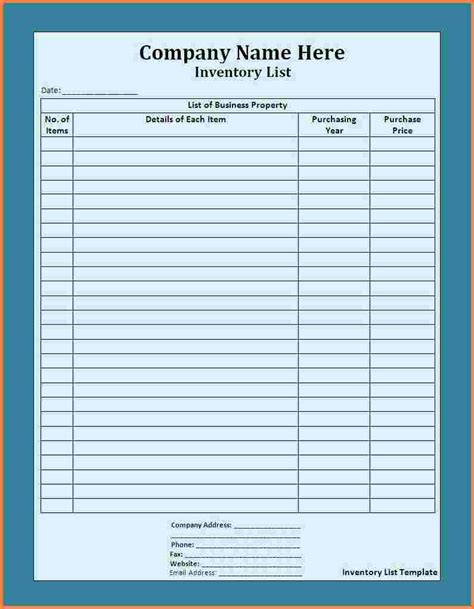 supply inventory template 5 supply inventory spreadsheet template excel