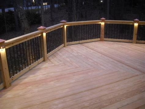 rail deck lighting pattern ideas this deck features a low voltage lighting