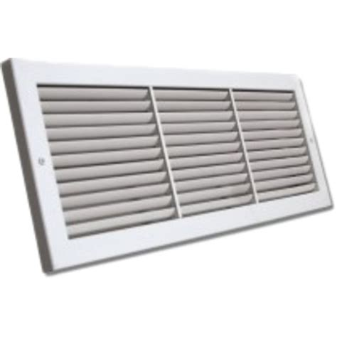 26x10 Soft White Deluxe Baseboard Return Air Grille