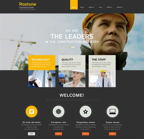 templates for construction website 41 construction website themes templates free