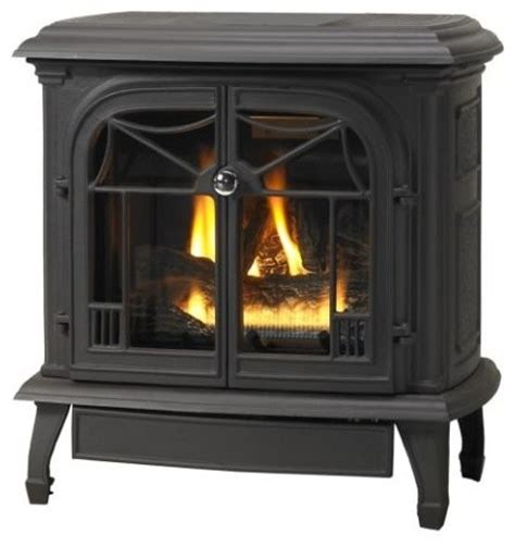 customizable cast iron stove with gas burner system flat
