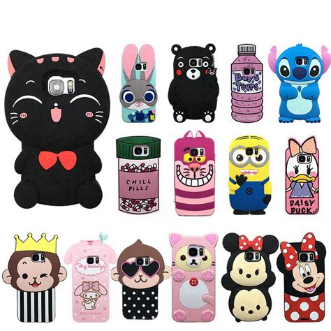 Silicon Casing Softcase 3d Samsung S7 S7 Edge 2 3d for samsung galaxy s6 s7 edge silicone mickey minnie mouse rabbit soft