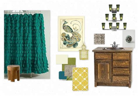 Peacock Bathroom Ideas | creatively christy peacock bathroom