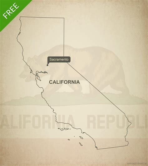 california map free vector free vector map of california outline one stop map