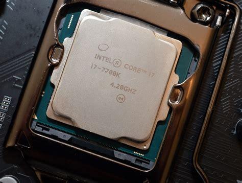 i7 7700k cpu fan intel kaby lake core i7 7700k and core i5 7600k review