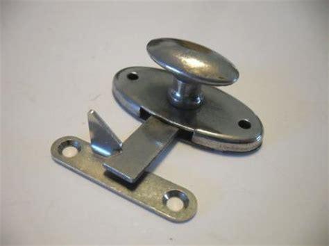 flush mount cabinet door latch vtg nos chrome hoosier cabinet door latches twist knobs