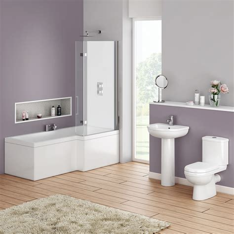 ivo modern shower bath suite  victorian plumbing uk