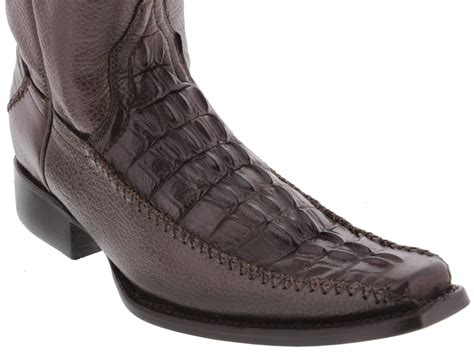 Zipper Boots By Guten Inc s brown dressy crocodile western cowboy boots with