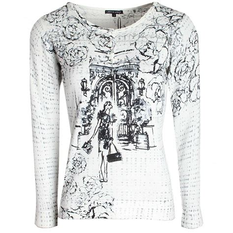 Sleeves Set Leo Prints Hello print sleeve knitted jumper by leo ugo at walk in style