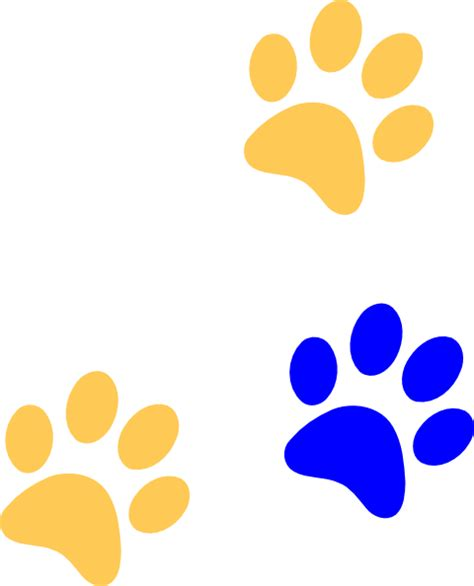 paw print clip blue gold paw print clip at clker vector clip royalty free