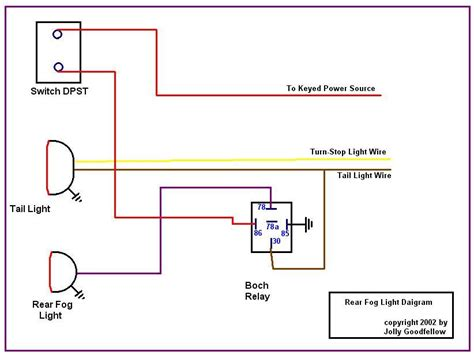 headlight and fog light relay wiring diagram headlight