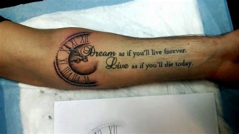 dream as if you ll live forever tattoo as if you will live forever live as if you will die