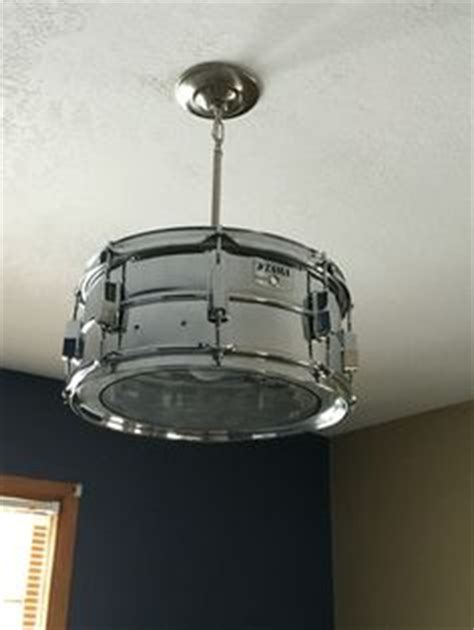 Drum Set Light Fixture Hanging Light Fixture Upcycled Using Drum Set By By Urbantwiggs For The Home Pinterest