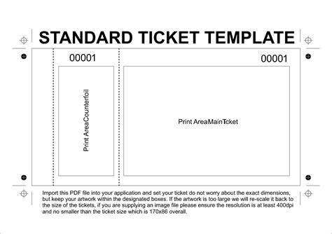 Editable Ticket Template 36 editable blank ticket template exles for event thogati